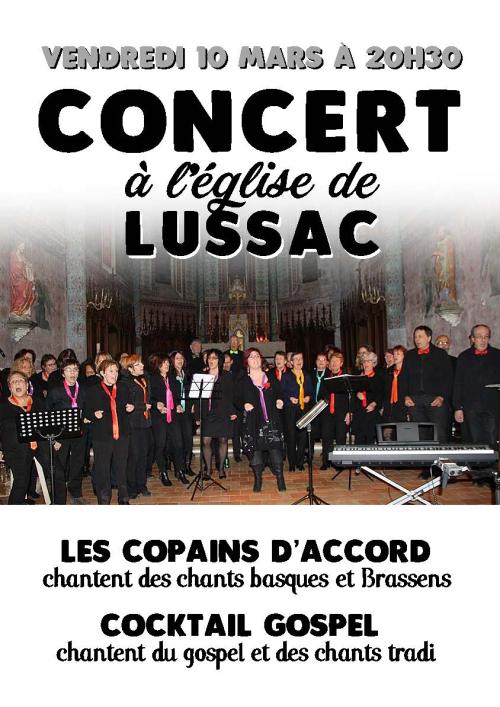 Affiche concert Lussac